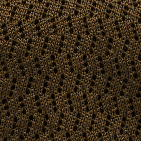 Zig Zag Silk Knit Tie - Olive - Oxford Rowe