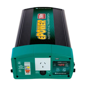 Enerdrive ePOWER 2000W 12V Pure Sine Wave Inverter with AC Transfer