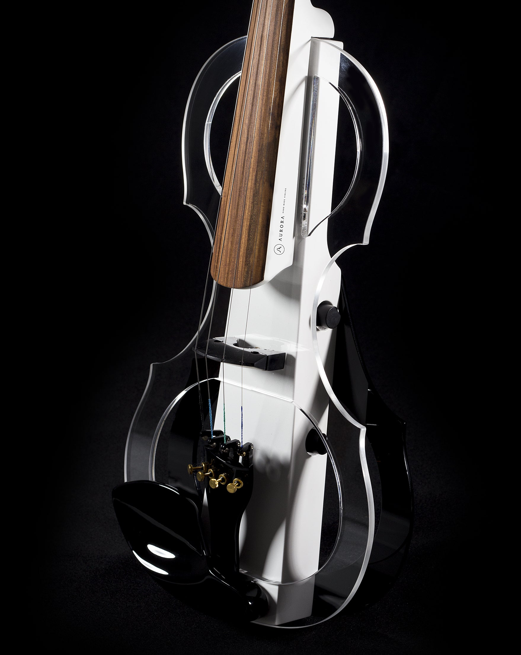 Aurora Silhouette Electric Violin with built-in leds