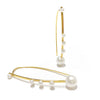 Bubbled collection earrings yellow gold with south sea pearls