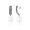 Fused earrings 01 sterling silver with south sea pearl