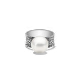 Fused ring 06 sterling silver with south sea pearl