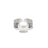 Fused collection ring 104 sterling silver with south sea pearl