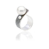 Fused Collection Ring 101 Sterling Silver and South Sea pearl