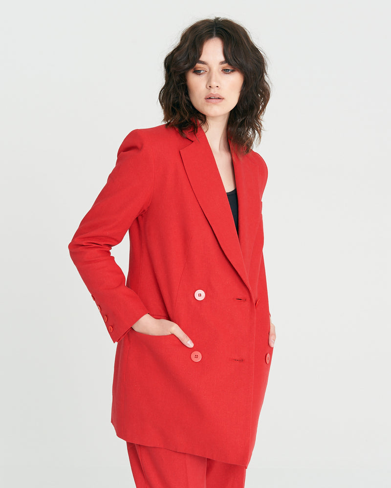 Jagger Jacket - Cherry