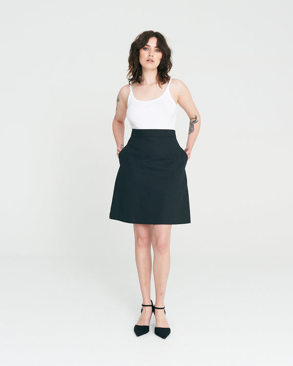 Rebel A-line Skirt - Noir