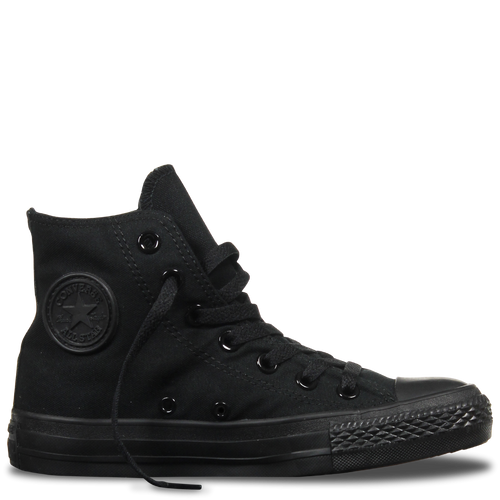 High Top Custom Converse Chuck Taylor - Monochrome Black