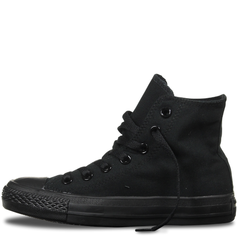 High Top Custom Converse Chuck Taylor - Monochrome Black - panel 4