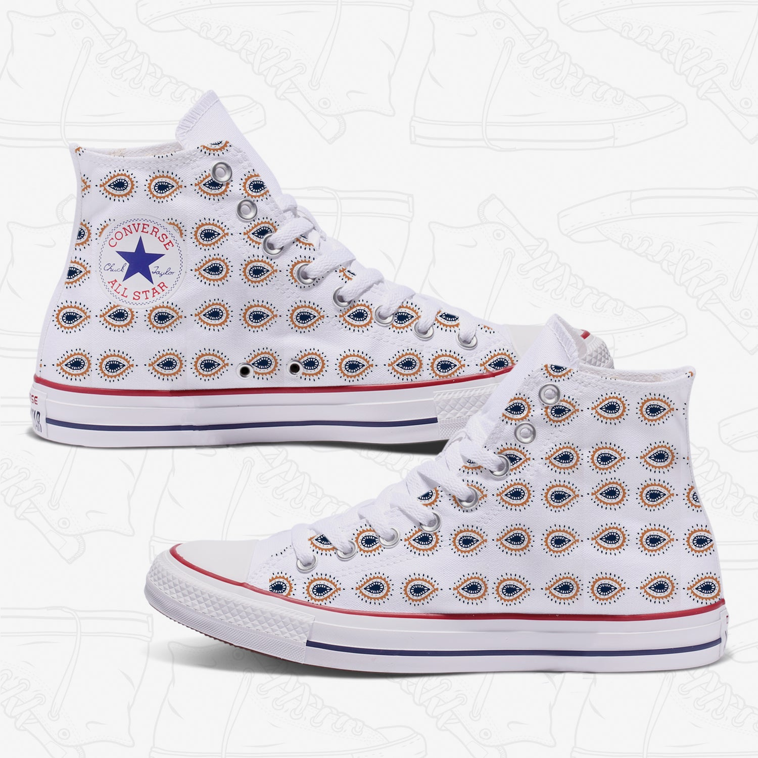 Boho Chic Womans Custom Converse
