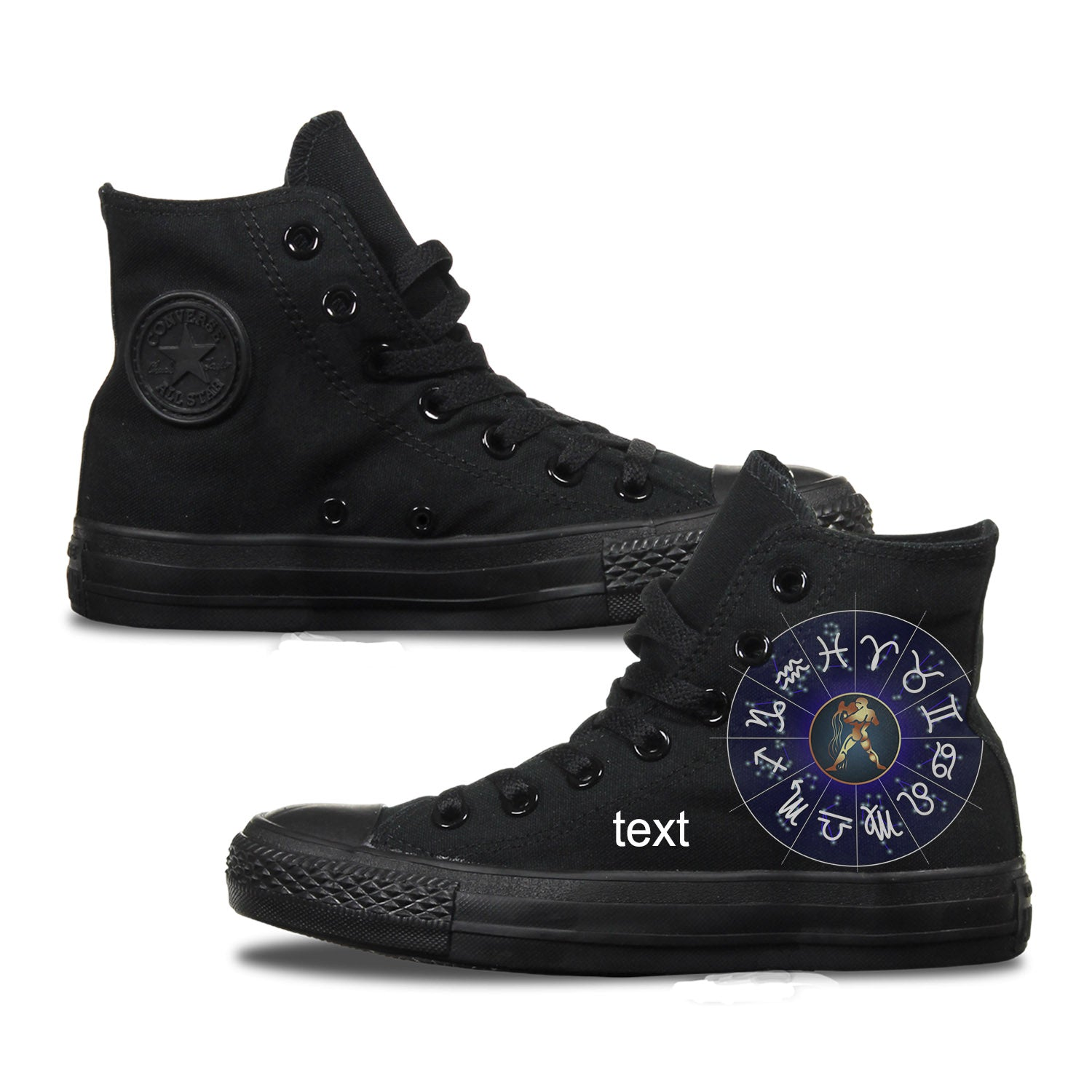 Aquarius Zodiac Adult Custom Converse