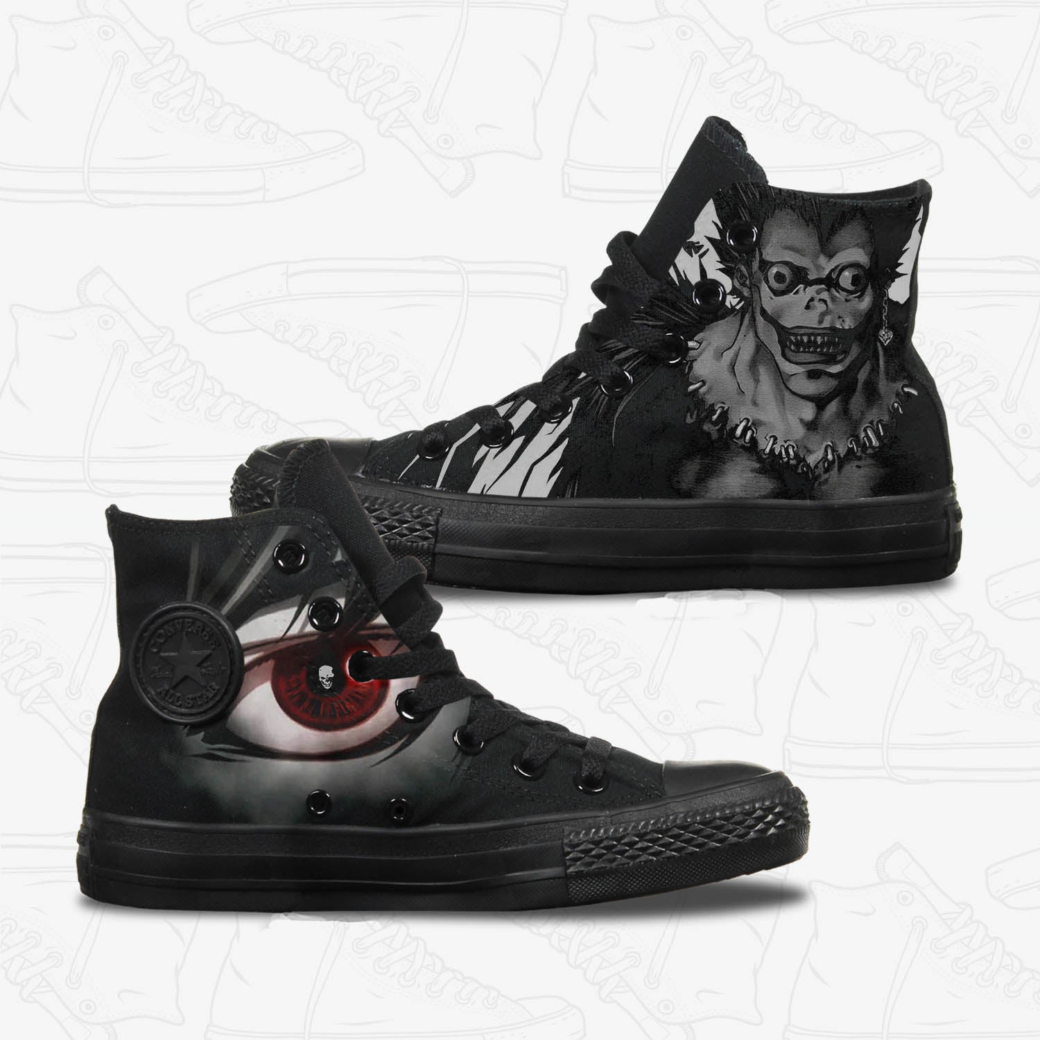488a2054793a Converse Custom Death Note Adult Shoes