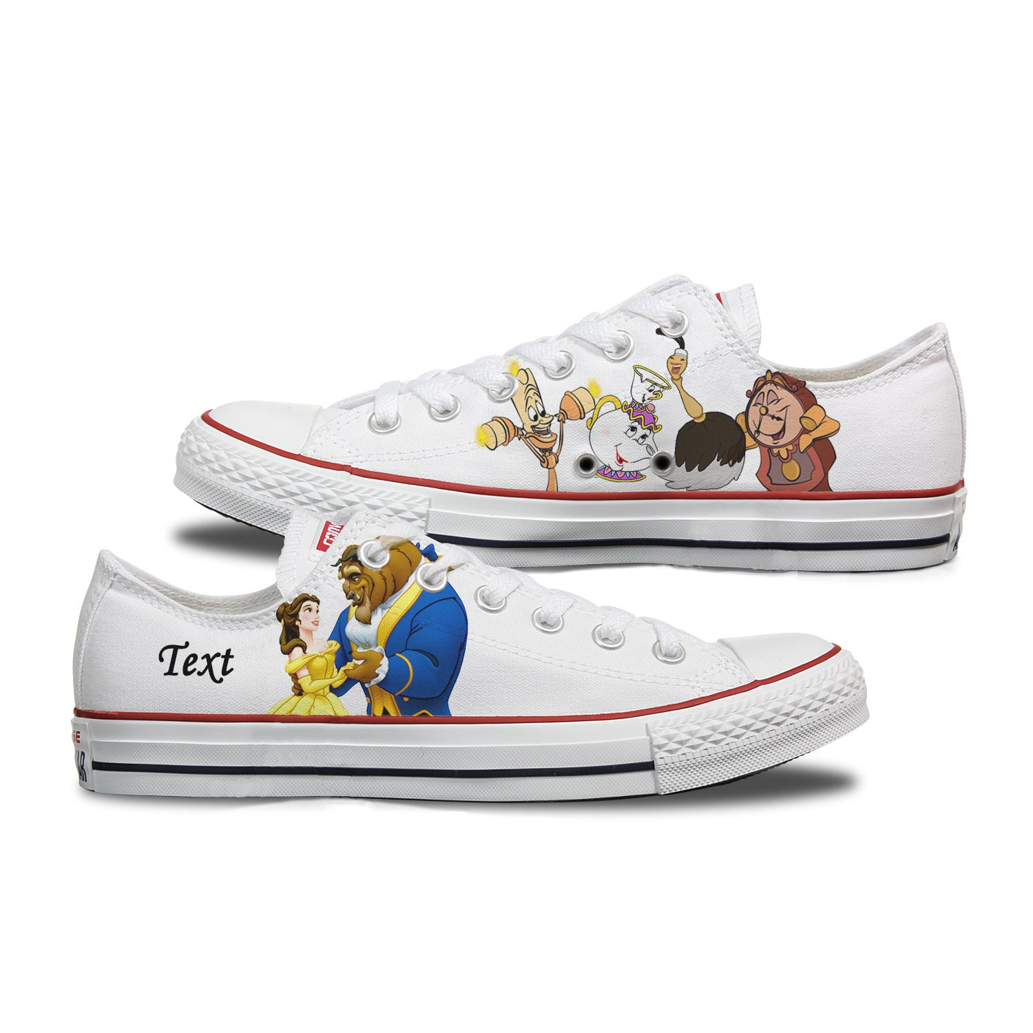 Beauty and The Beast - Adult Custom Converse