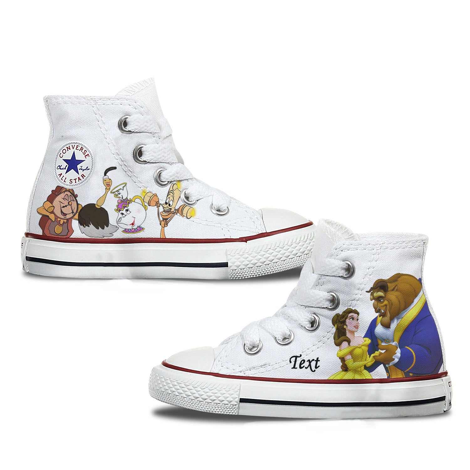 Beauty & The Beast Kids Custom Converse
