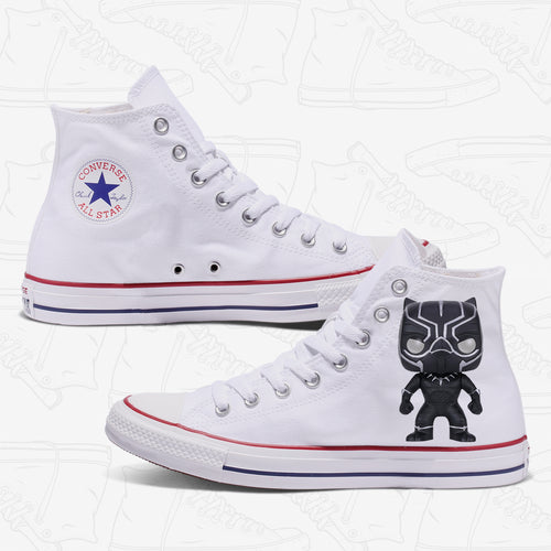 Black Panther Adult Converse Shoes