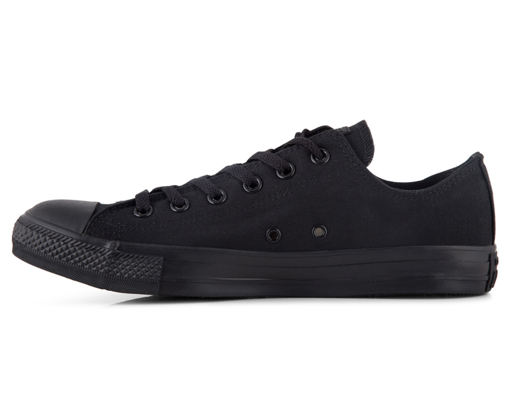 Low Top Custom Converse Chuck Taylor - Monochrome Black