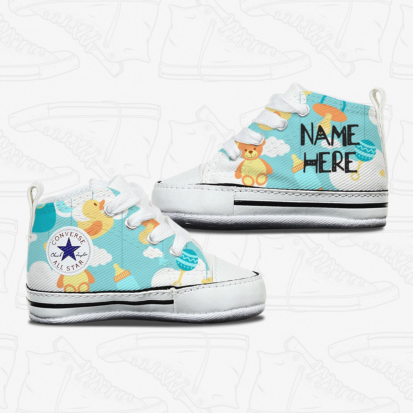 Converse Custom Baby Toys Infant Shoes