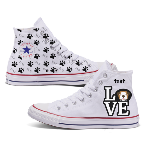 Love Bulldog Custom Converse