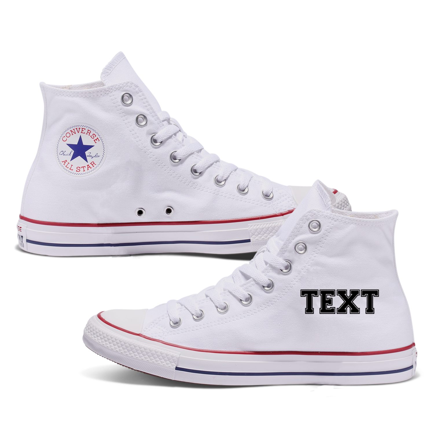 Personalised Adult Converse Shoes