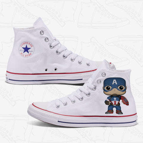 Captain America Custom Converse White