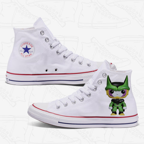 Cell Custom Converse White