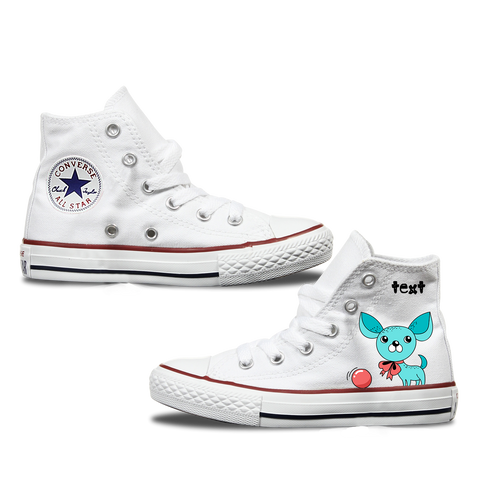 Chihuahua Kids Personalised Converse