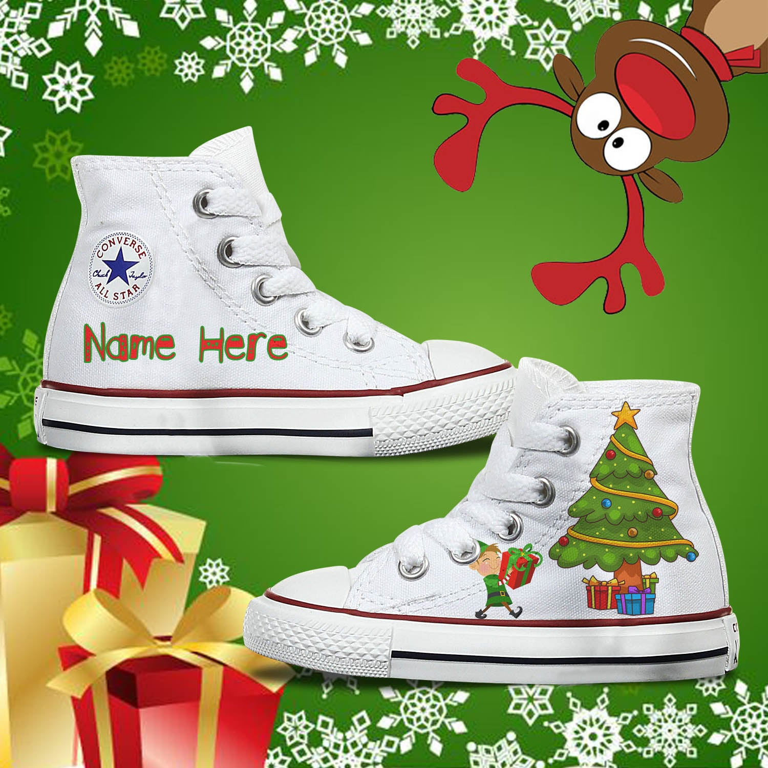 Kids Custom Christmas Converse