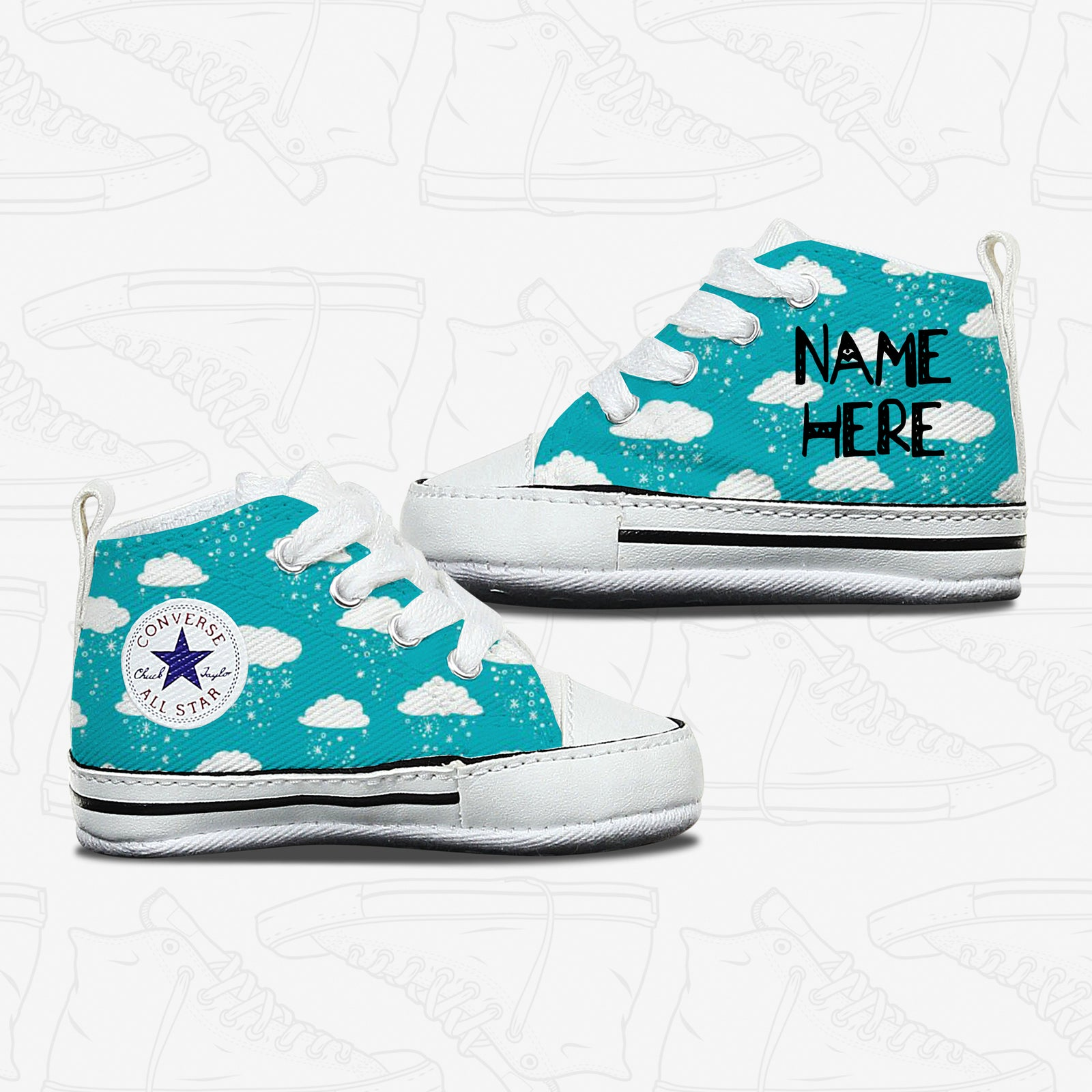 Cloud baby infant Converse Shoes