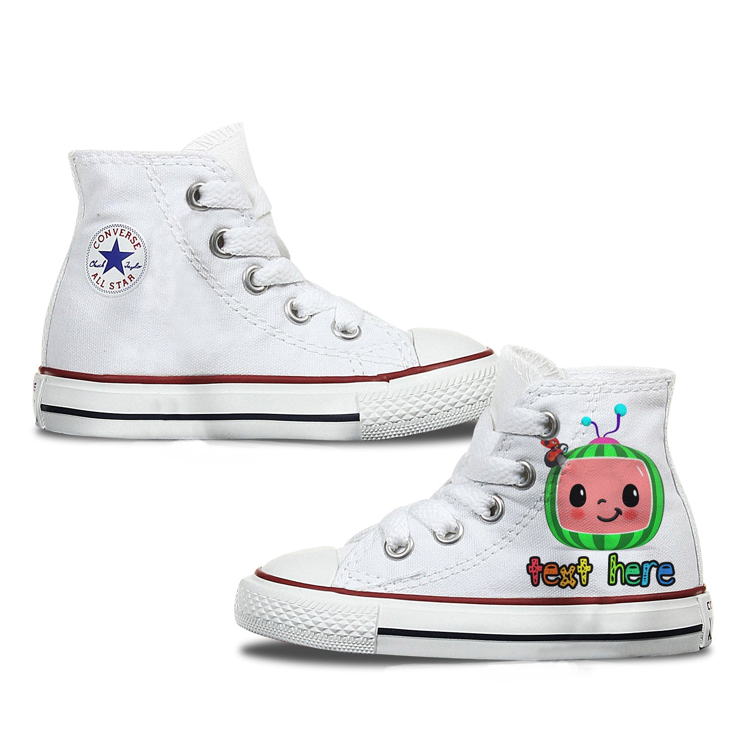 Cocomelon Kids Personalised Converse