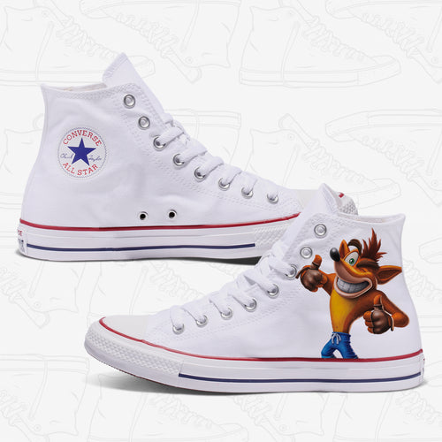 Crash Bandicoot Adult Converse Shoes
