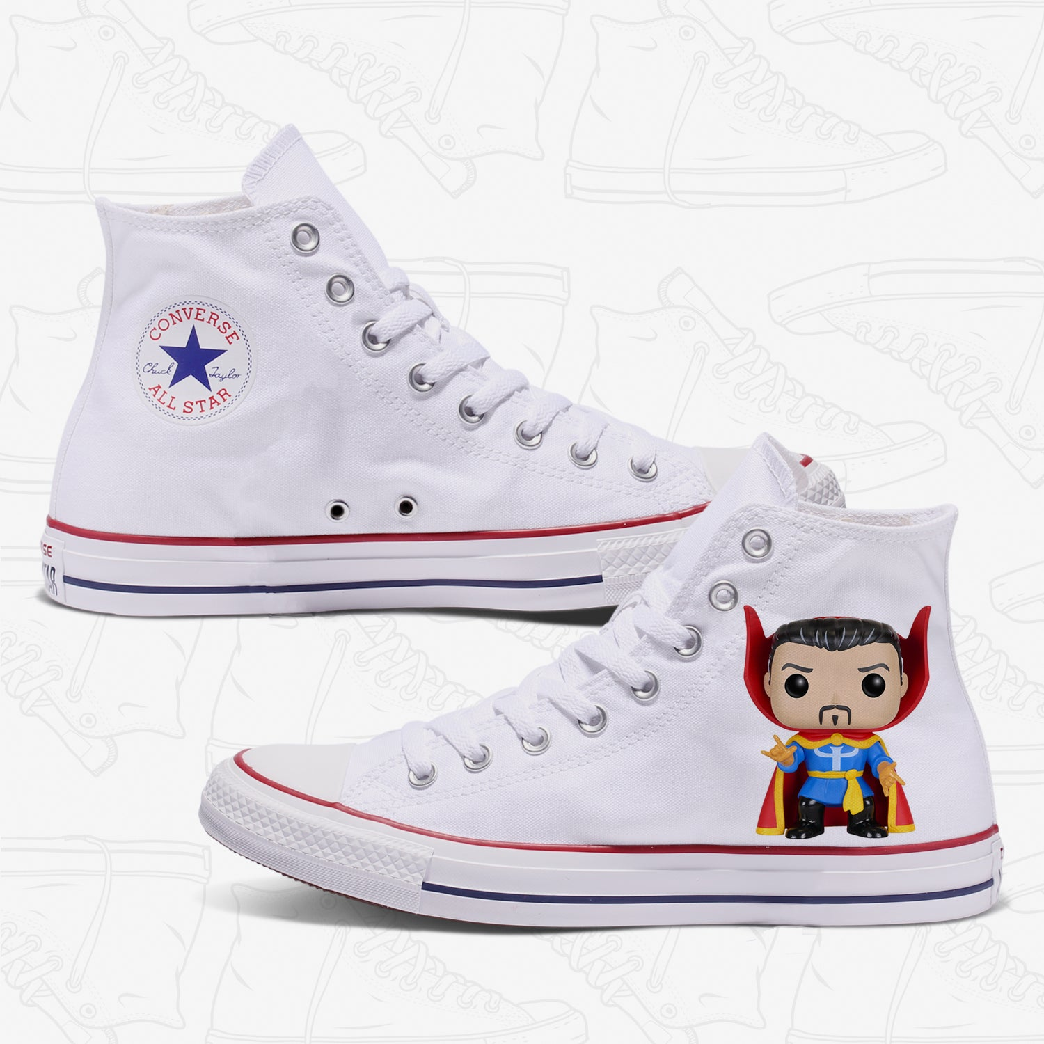 Dr Strange Adult Converse Shoes