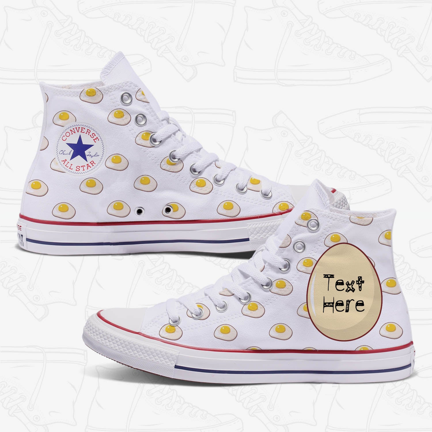 The Egg Custom Converse