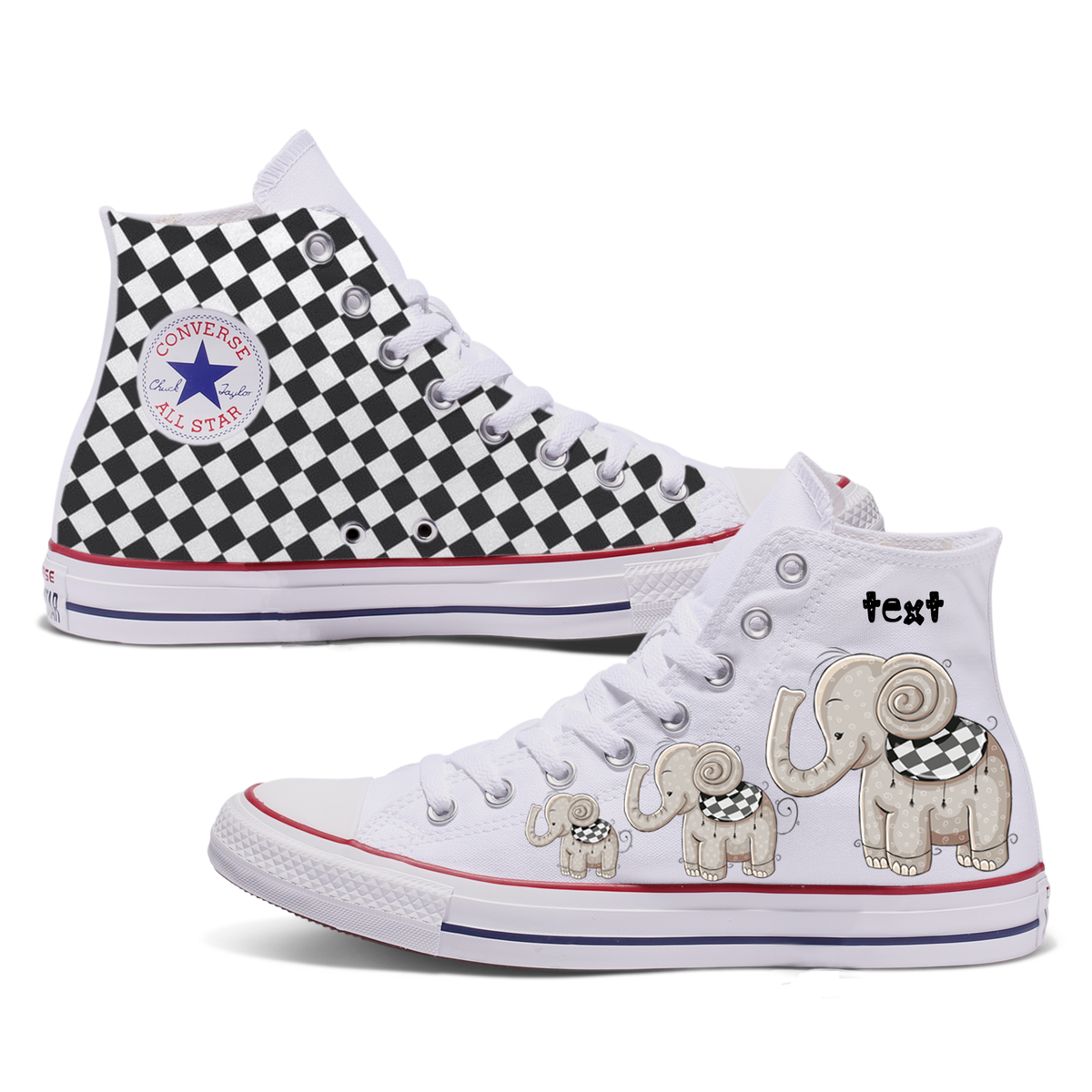 Elephant Adult Converse Shoes