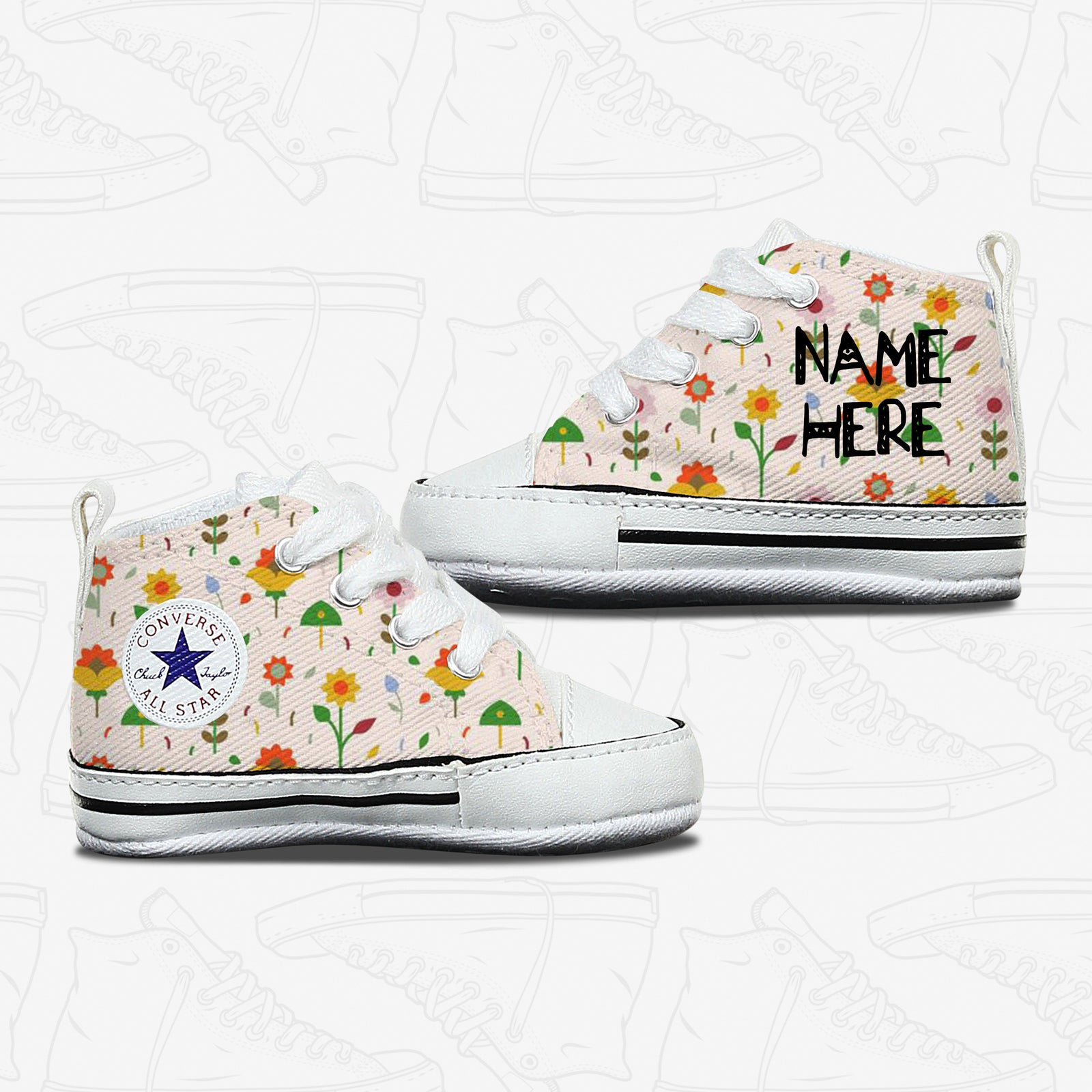 Flower Baby Converse Shoes