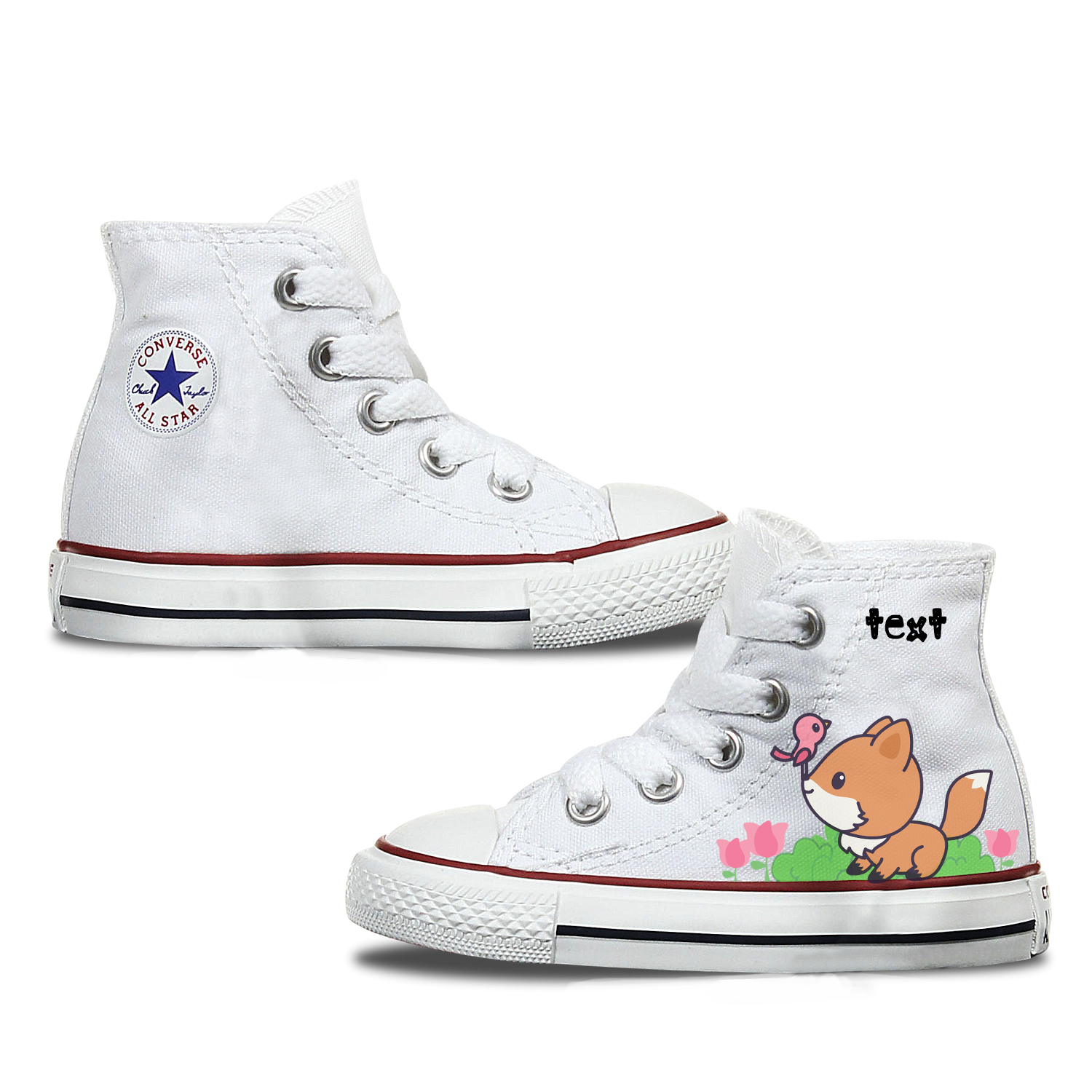 Fox Kids Custom Converse