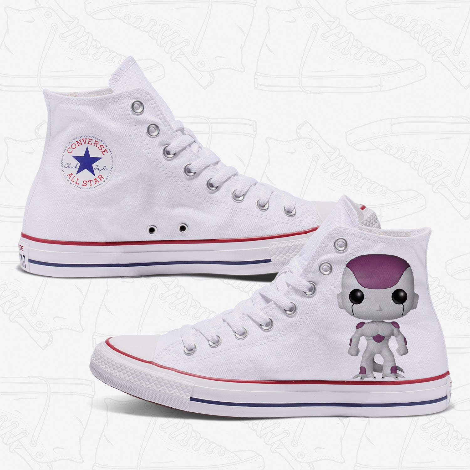 Frieza Adult Converse Shoes