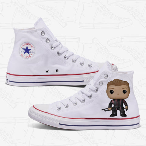 Hawkeye Custom Converse White