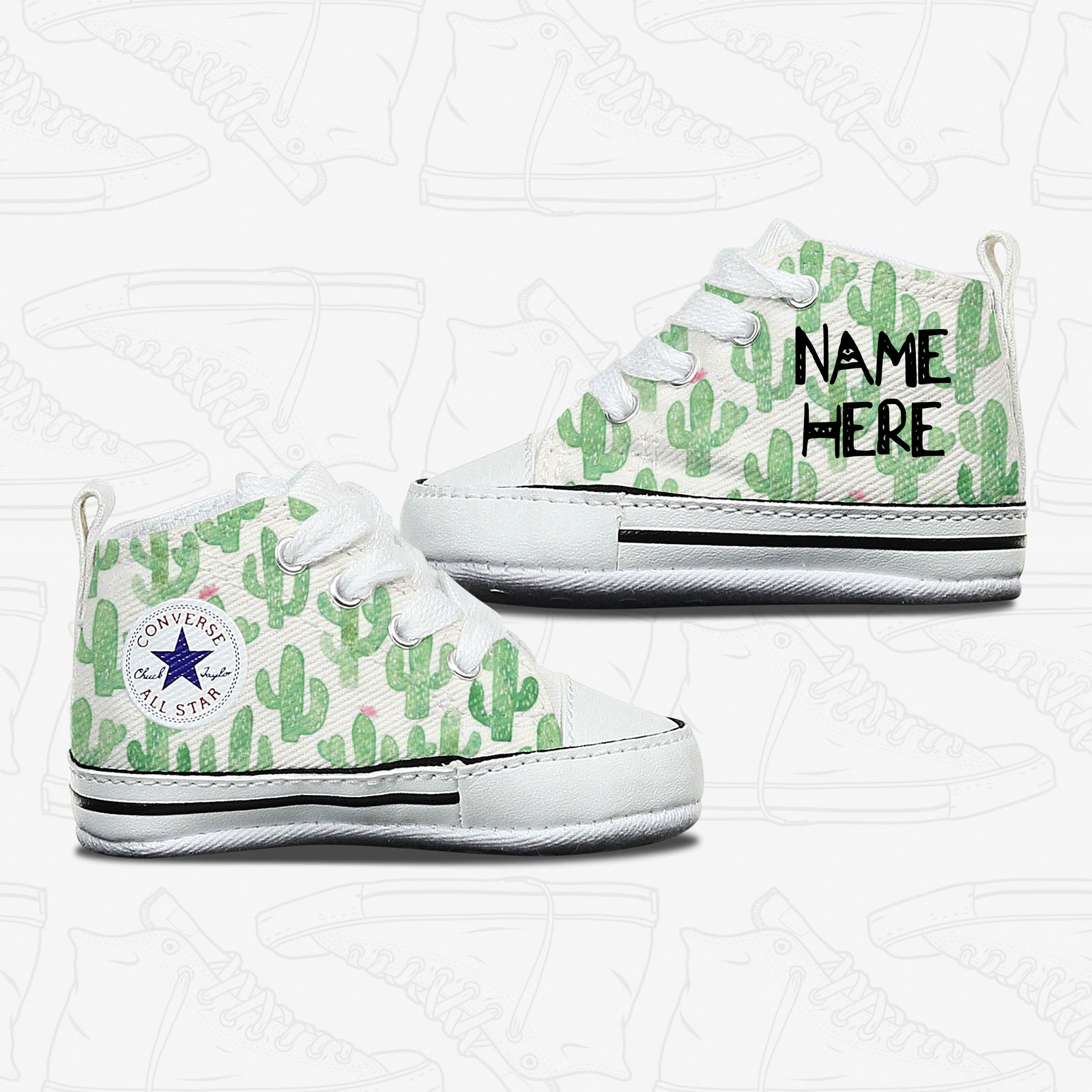 Cactus Baby Infant Converse Shoes