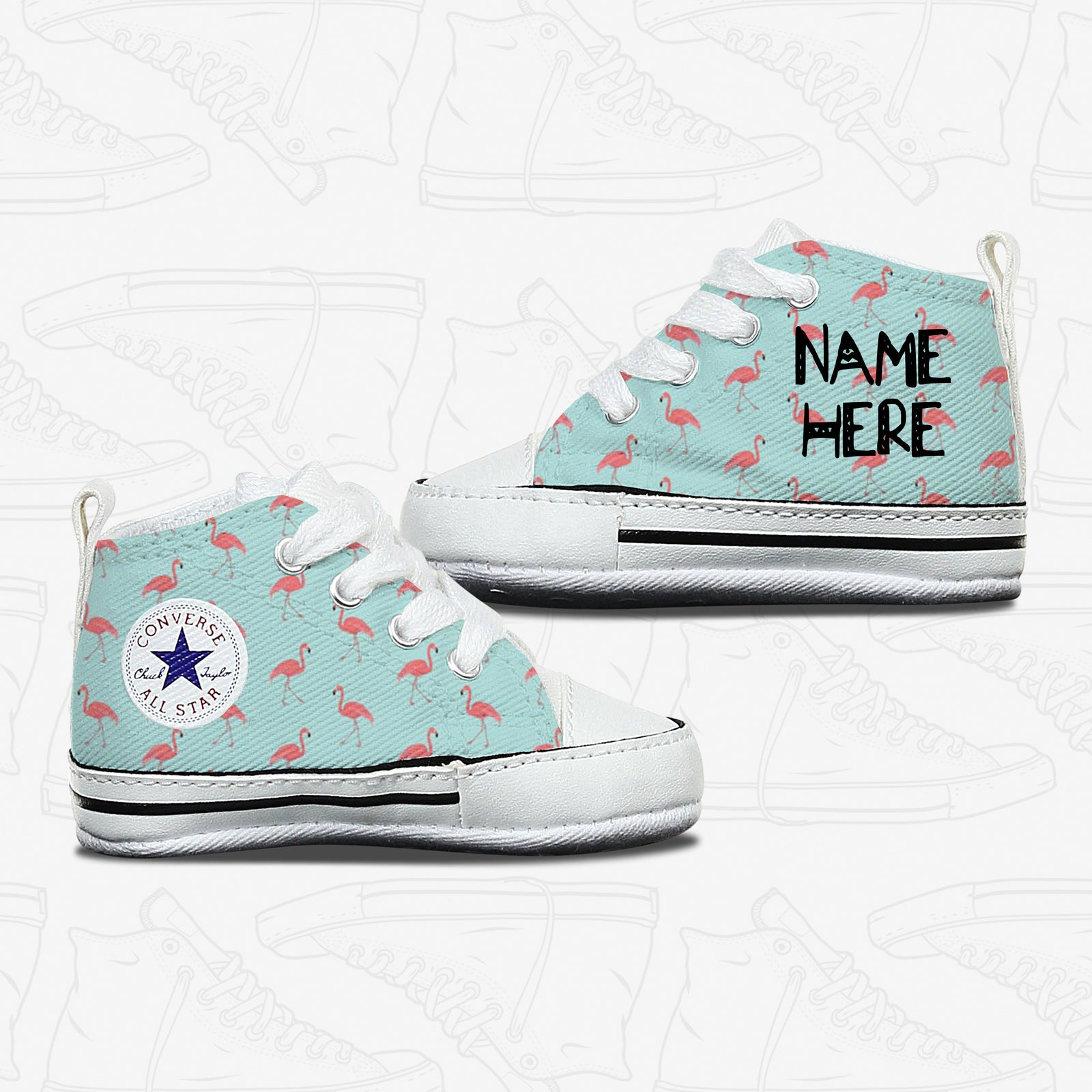 Flamingo Baby Infant Converse Shoes