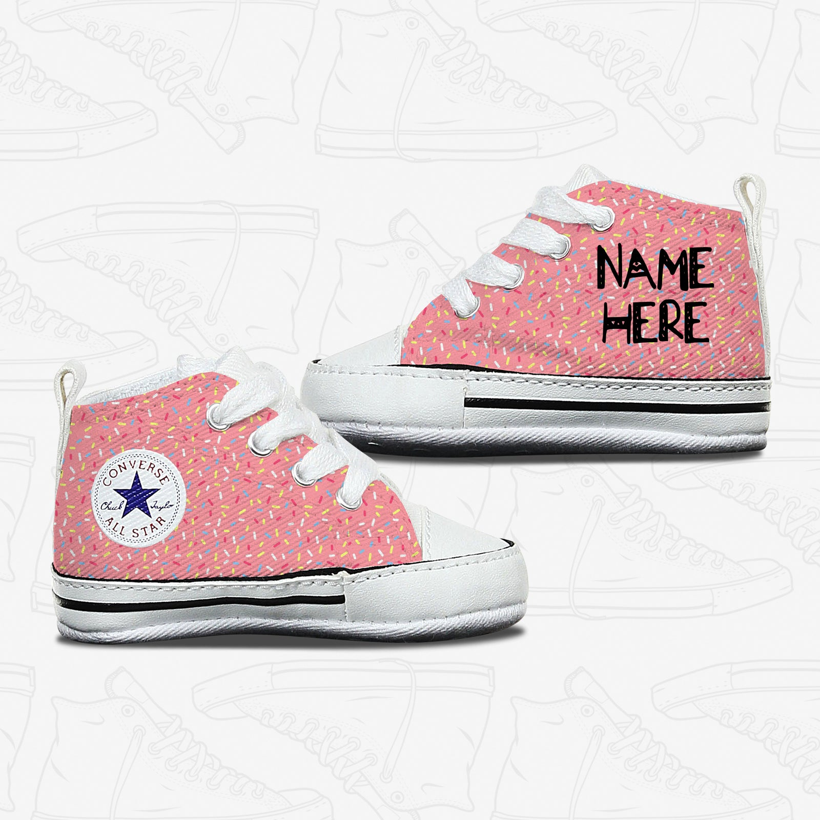 Cupcake Icing Baby Infant Converse Shoes