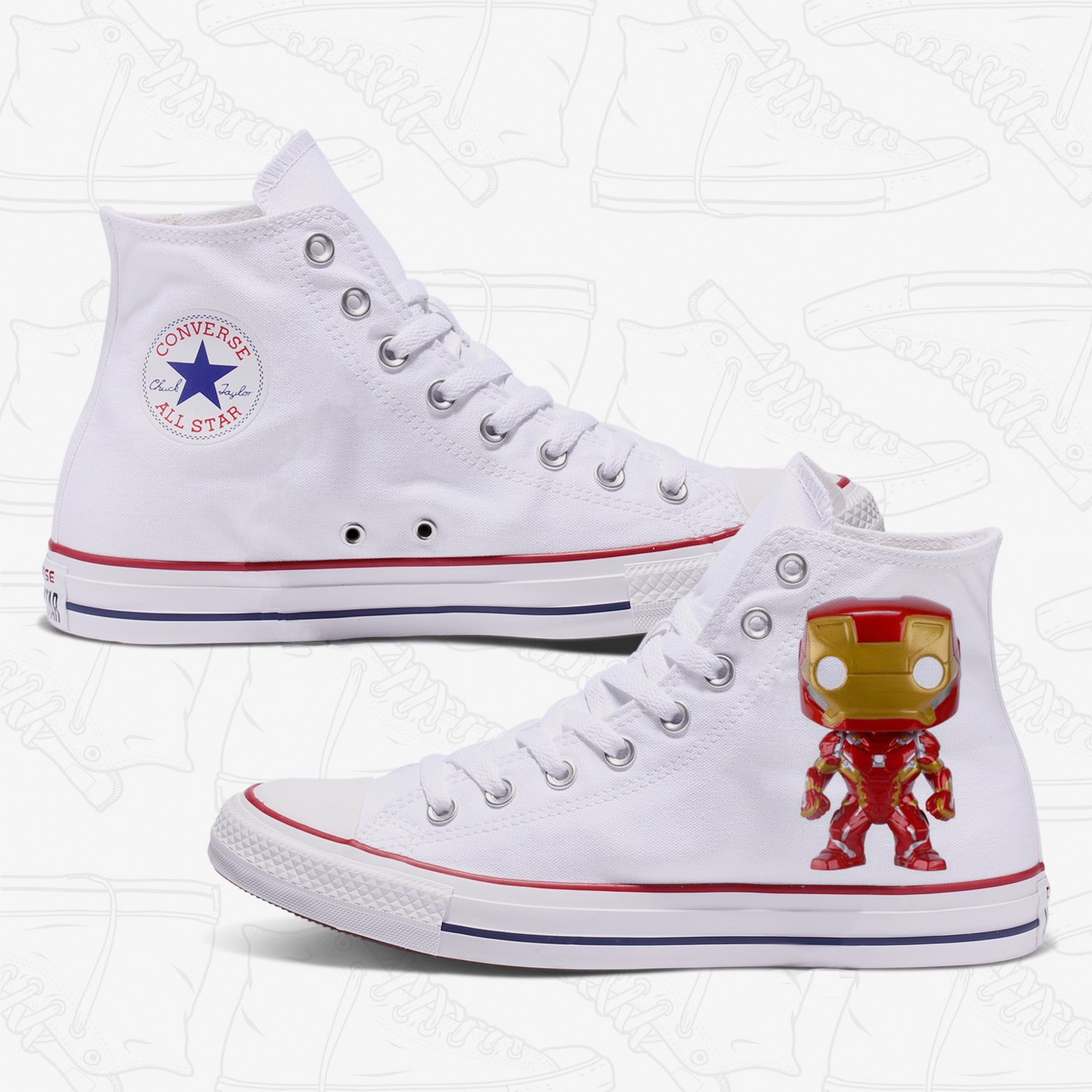 Iron Man Adult Converse Shoes