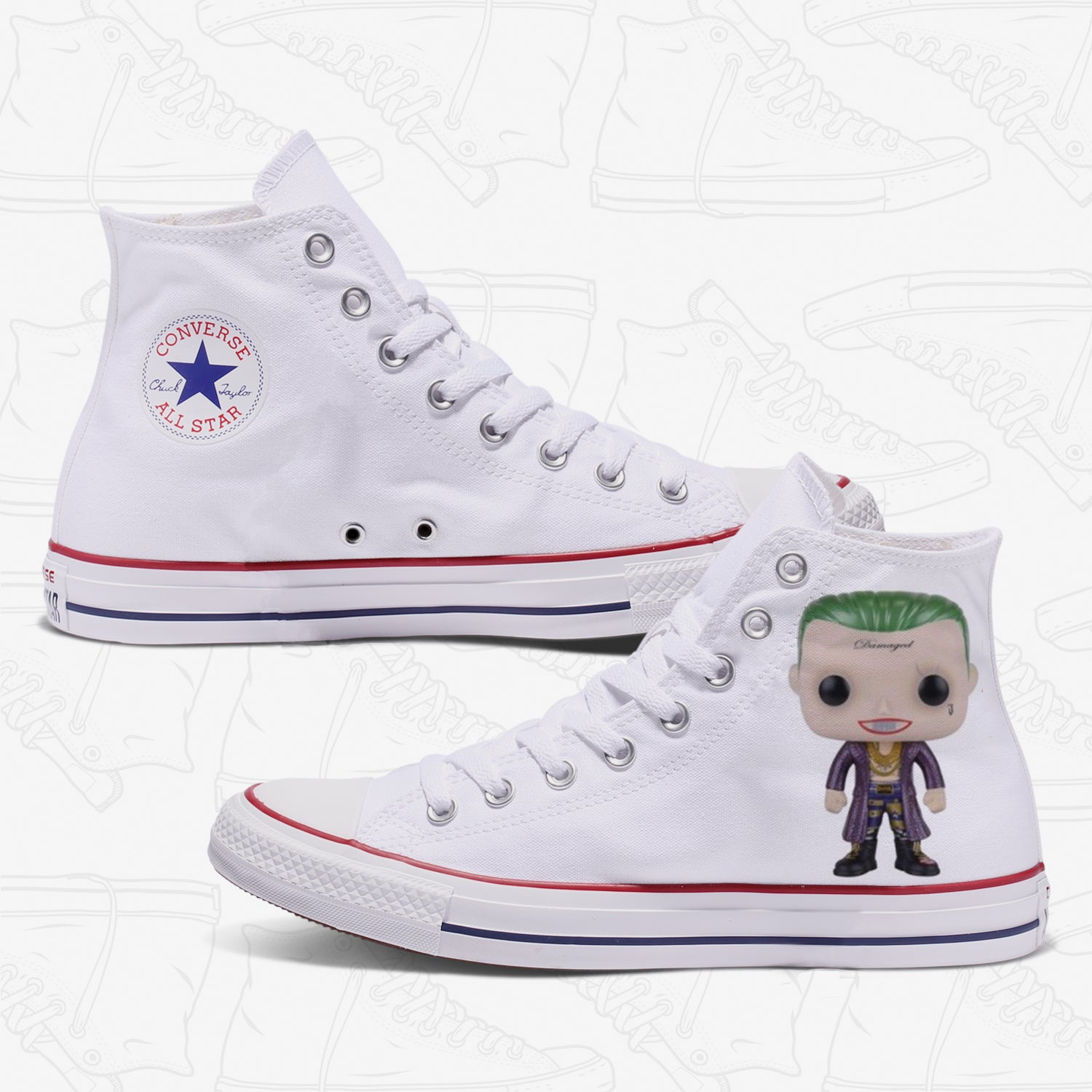 JOker Adult Converse Shoes