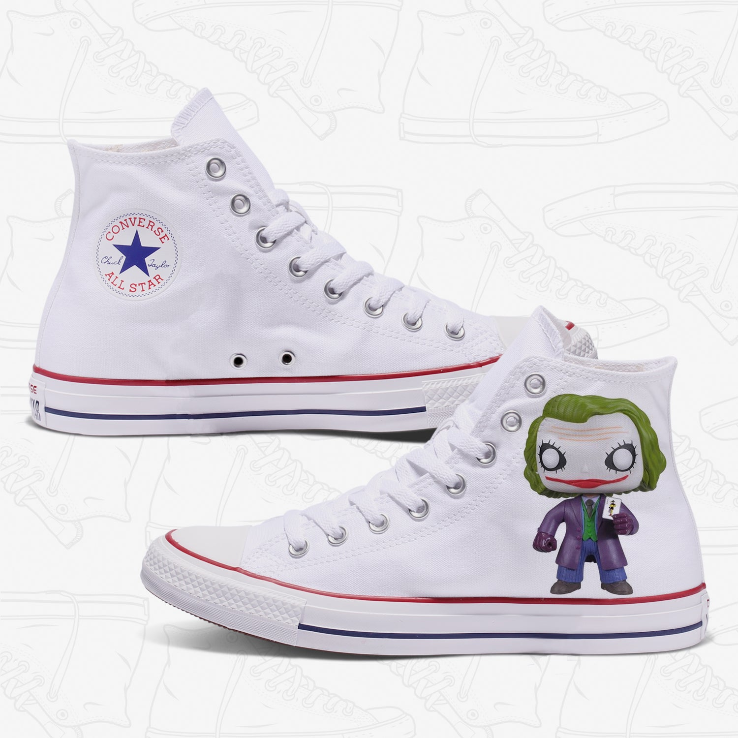 The Joker Custom Converse White