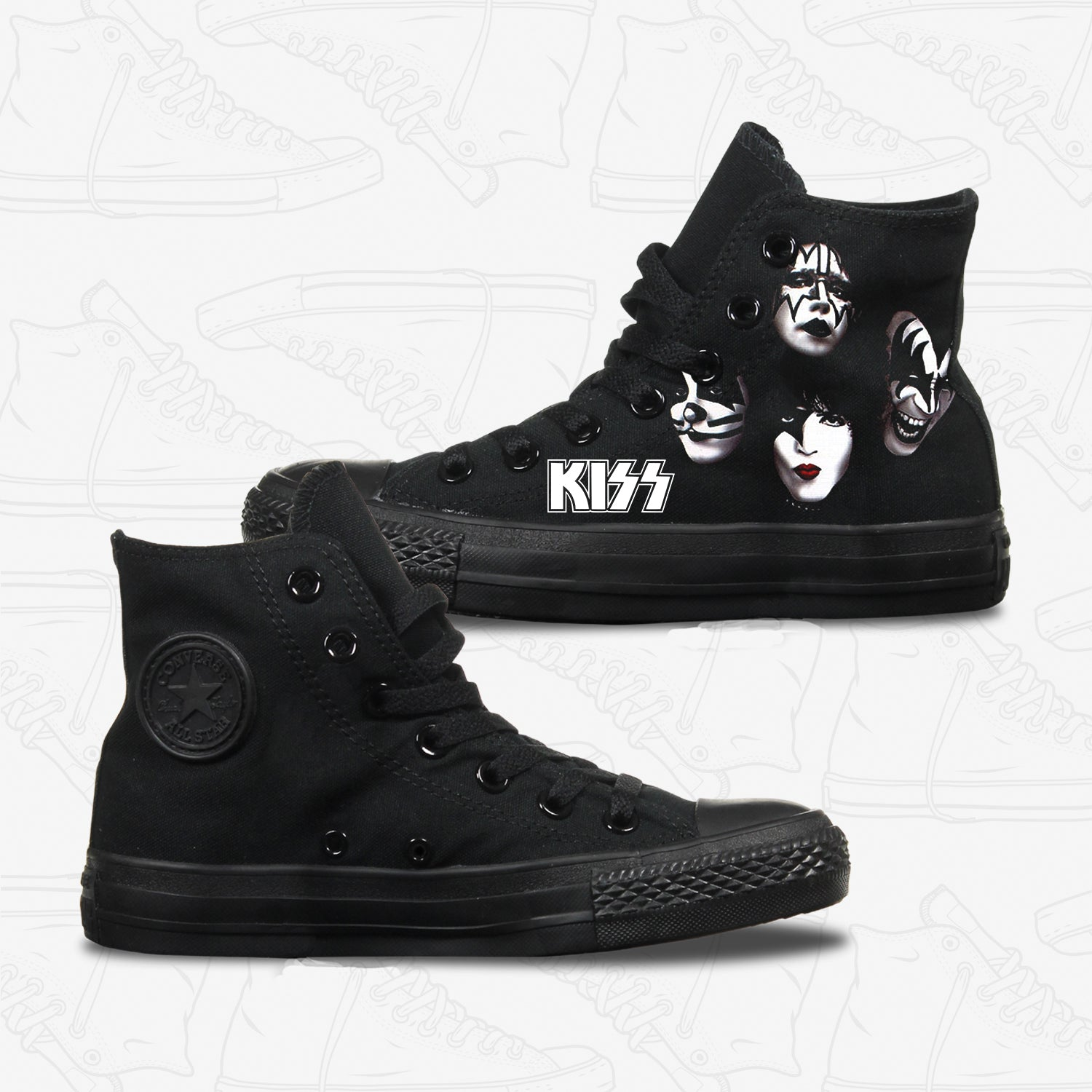 Kiss Adult Converse Shoes