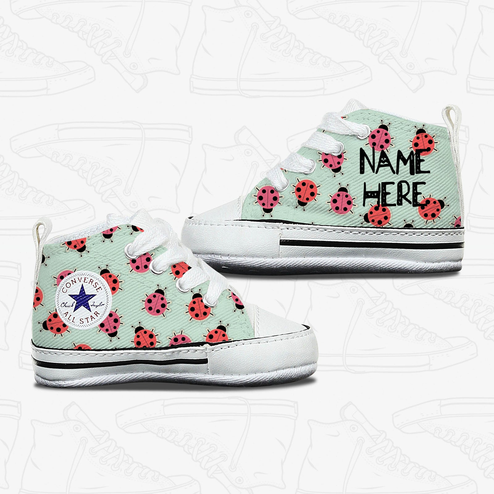 905b7d1ee82c Custom Infant Converse - Personalised Baby Gifts – Bump Shoes