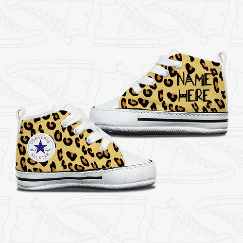 Leopard Baby Infant Converse Shoes