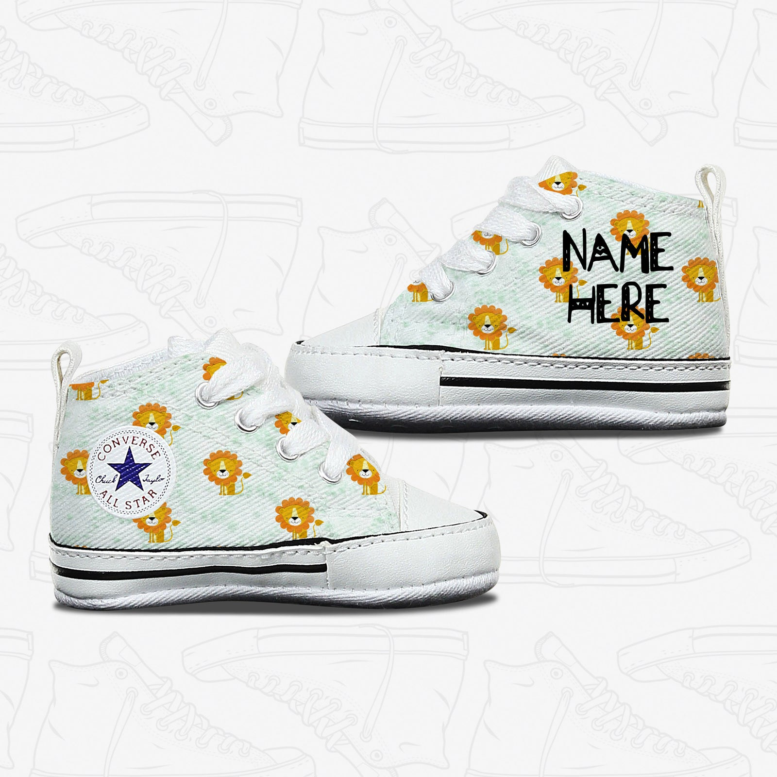 Lion Baby Infant Converse Shoes