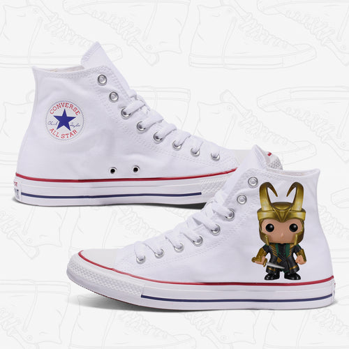 Loki Adult Converse Shoes White