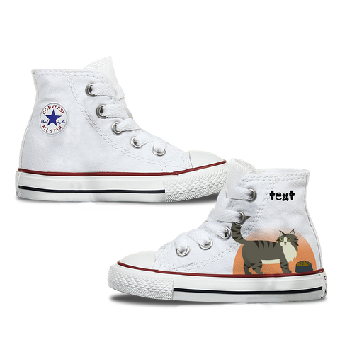 Maine Coon Kids Personalised Converse