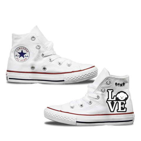 Love Maltese Kids Personalised Converse