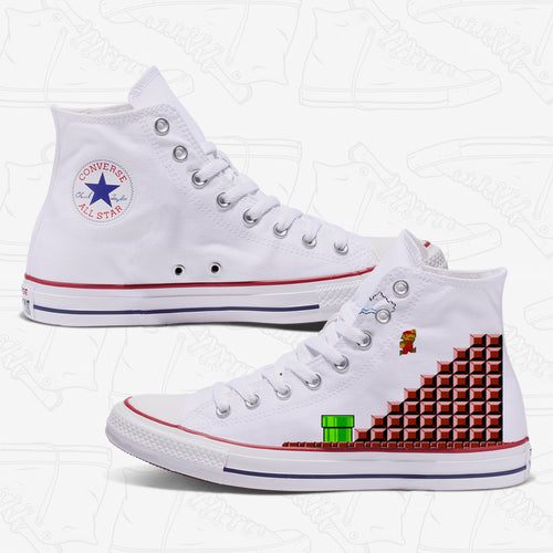 Super Mario Adult Converse Shoes